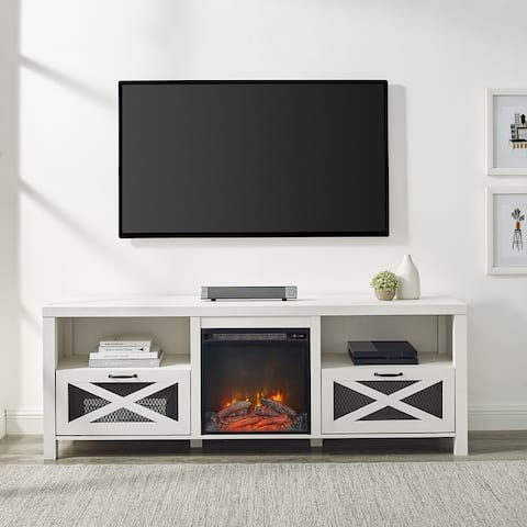 The Gray Barn 70-inch Rustic Fireplace TV Console