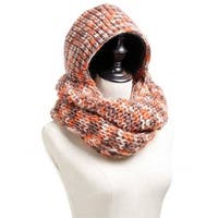 Mad Style Orange Hoodie Knit Infinity Scarf