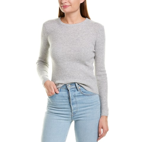 Monrow Ribbed Wool & Cashmere-Blend Sweater