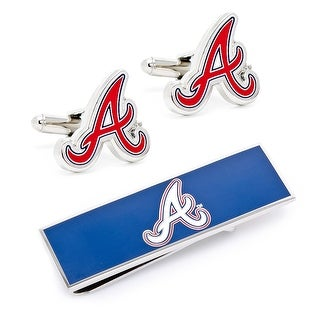 Atlanta Braves Cufflinks and Money Clip Gift Set MLB - Blue