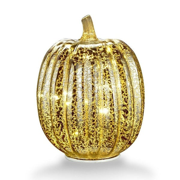 Shop Mercury Glass 77 Battery Operated Led Pumpkin Lights With