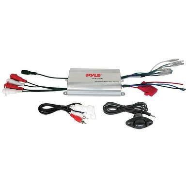 Pyle Marine 4CH MP3/IPod Marine Power Amp - Silver finish