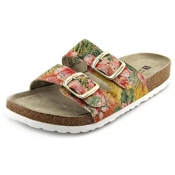 White Mountain Helga Open Toe Synthetic Slides Sandal