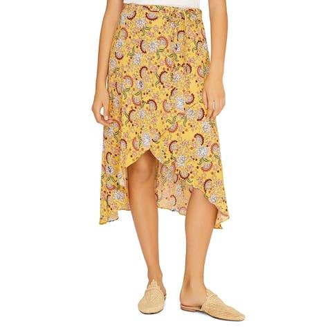 Sanctuary Womens Jamie Midi Skirt Floral Hi-Low - Sunrays