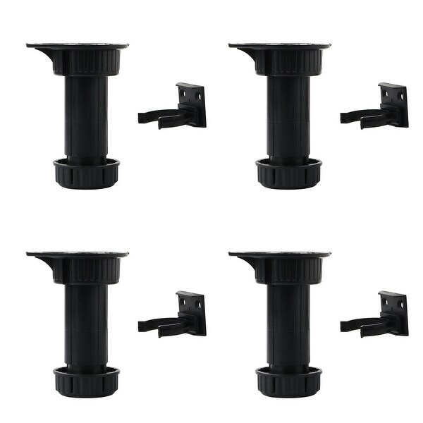 4pcs ABS Adjustable Kitchen Cabinet Legs Feet Height(Total:100-145mm) x 44mm Dia - Black. Opens flyout.