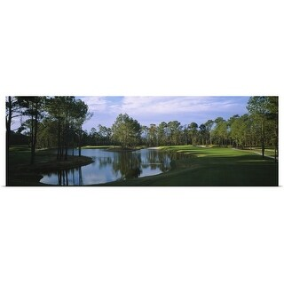 Poster Print entitled Pond on a golf course, Kilmarlic Golf Club, Outer Banks, North Carolina - multi-color