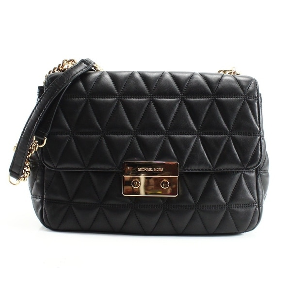 a7e4c00cf9d Shop Michael Kors NEW Black Quilted Leather XL Chain Sloan Shoulder ...