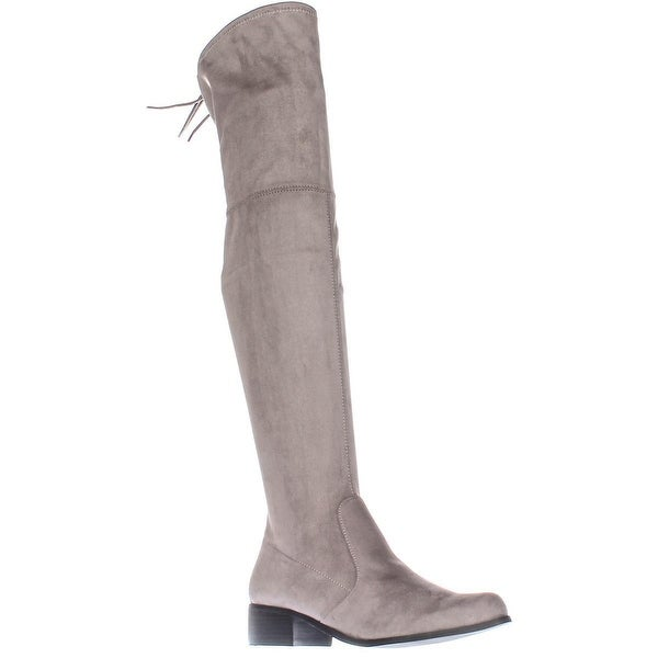 Charles by Charles David Gunter Over The Knee Back Bow Boots, Grey