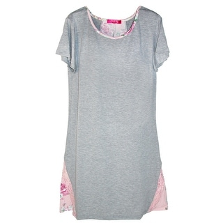 Catherine Malandrino Women's Short Sleeve Night Shirt with Back Inset