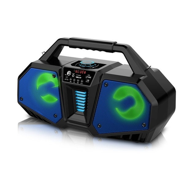 Technical Pro Rechargeable LED Bluetooth Boombox Speaker
