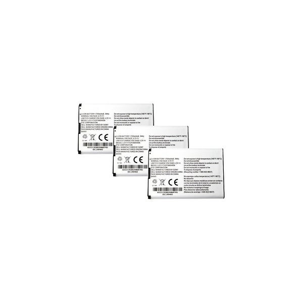 Replacement Battery for ZTE Li3717T42P3h654458 (3-Pack) Replacement Battery