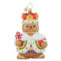 Christopher Radko Glass Ginger King Christmas Ornament #1017697 - RED