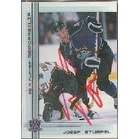 Jozef Stumpel Los Angeles Kings 2000 In The Game Be A Player Autographed Card This item comes with a certificate of a