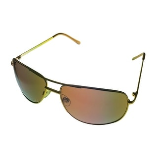 Perry Ellis Sunglass PE22 3 Mens Silver / Matt Gold Metal Aviator, Brown Lens - Medium