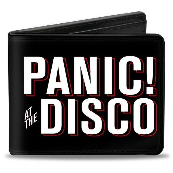 Panic! At The Disco Block Black White Red Bi Fold Wallet - One Size Fits most