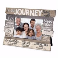 Lighthouse Christian Products  Stacked Wood Journey Frame - No. 17624