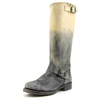 Frye Veronica Slouch Women Round Toe Leather Gray Knee High Boot