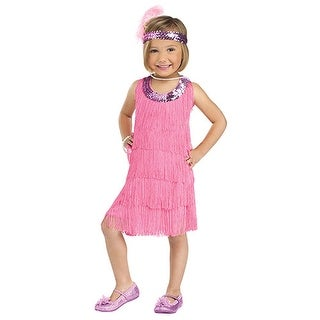 Toddler Pink Flapper Twenties Halloween Costume - 3t-4t