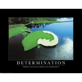 ''Determination: Golf Course'' by Anon Motivational Art Print (22 x 28 in.)