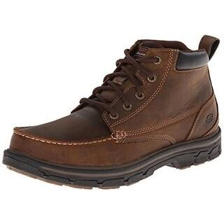 Skechers Mens Leather Memory Foam Work Boots - 10 medium (d)