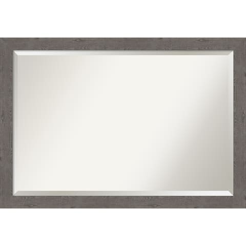 Porch & Den Pennywort Rustic Grey Narrow Vanity Wall Mirror