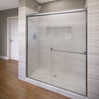 """Basco 3500-48SOB  Classic 65-1/2"""" High x 47"""" Wide Bypass Framed Shower Door with Obscured Glass - Silver"""