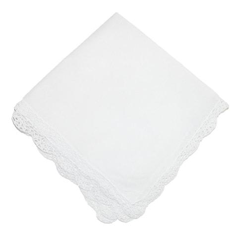 CTM® Women's Cotton Bonnie Lace Handkerchief - one size
