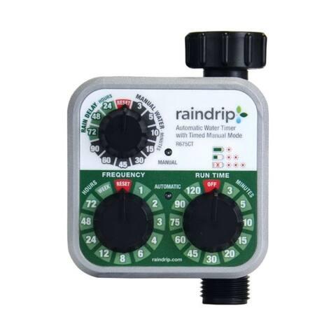 Raindrip Programmable 1 zone Water Timer - 3 x 6 x 10.6