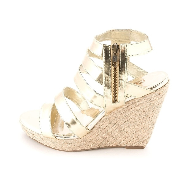Carlos by Carlos Santana Womens MIRACLE Open Toe Ankle Strap Wedge Pumps - 9