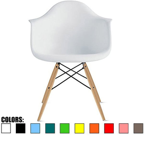 Modern Plastic Dining Room Chair with Eiffel Dowel Legs. Opens flyout.