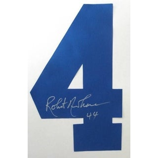 Robert Newhouse Signed Blue Football Jersey Number SI