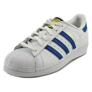 Adidas Superstar Foundation J Round Toe Leather Sneakers