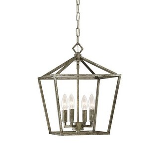 "Millennium Lighting 3234 4 Light 12"" Wide Pendant with Cage Frame and Candle Style Lights (3 options available)"