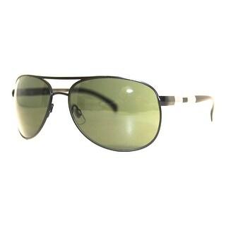 Perry Ellis Mens Sunglasses Black Matte Metal Aviator PE23-2, Includes Perry Ellis Pouch, 100% UV Protection
