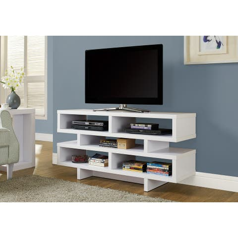 Monarch 2461 White 48nch Tv Stand