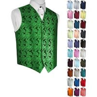 Men's Paisley Formal Tuxedo Vest. Wedding, Prom, Cruise, Special Occasion