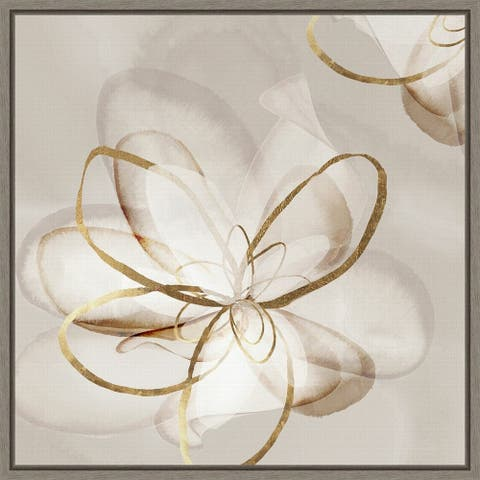 Transparent Beauty II (Floral) by Eva Watts Framed Canvas Art