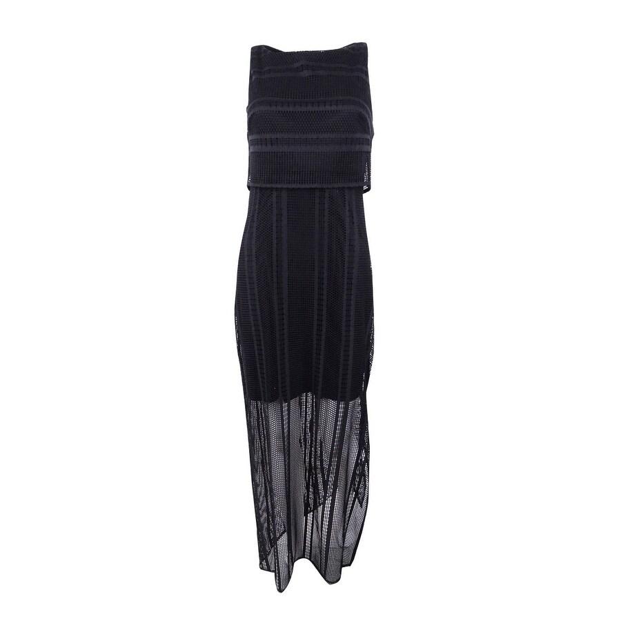 American Living Womens Lace Maxidress - Black
