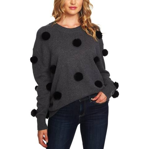 CeCe Womens Pullover Sweater Knit Crew Neck