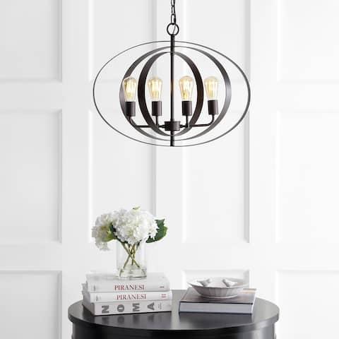 "SAFAVIEH Lighting Killian Adjustable 4-light LED Brass Pendant - 23.6""x23.6""x22-94"""