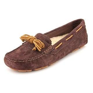 Ugg Australia Meena Women Moc Toe Suede Brown Loafer