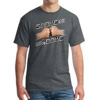 Talladega Nights Shake and Bake Checker Men's Dark Heather T-shirt