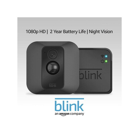 Blink BKIT004601 XT Home Security Camera System with Motion Detection, Wall Mount, HD Video 1 Camera Kit