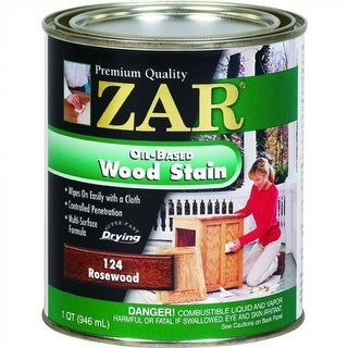 ZAR 12412 Interior Oil-Based Wood Stain, Rosewood, 1 Qt