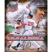 Signed Gonzalez Adrian Boston Red Sox 8x10 Photo autographed