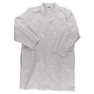 Meta Mens Lab Coat Long Sleeves Solid - 54L