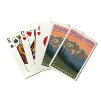Jackson Hole, WY - Spring Flowers - LP Art (Poker Playing Cards Deck)