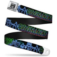 Transformers Autobot Logo Full Color Black Silver Gradient Electric Seatbelt Belt