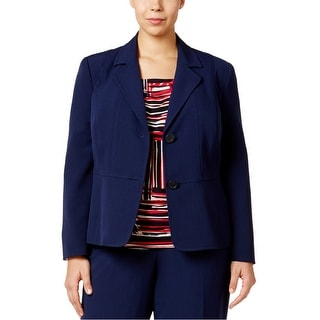 Link to Kasper Womens Solid Two Button Blazer Jacket, Blue, 14W Similar Items in Suits & Suit Separates