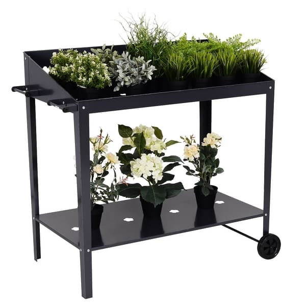 Shop Costway 40'' Raised Garden Bed Potting Bench Work ... on